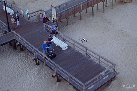 Piloting the Inspire 1 at a film project in Bethany Beach